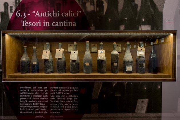 Museo del Vino Sala Baganza dettaglio sala espositiva