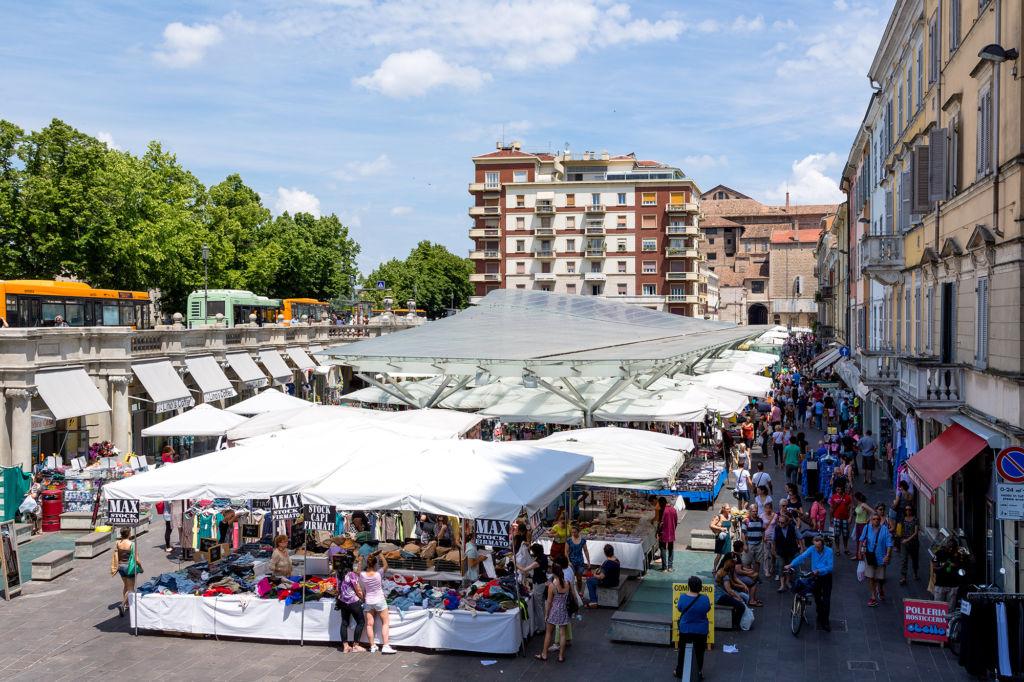 Piazza Ghiaia dall'alto