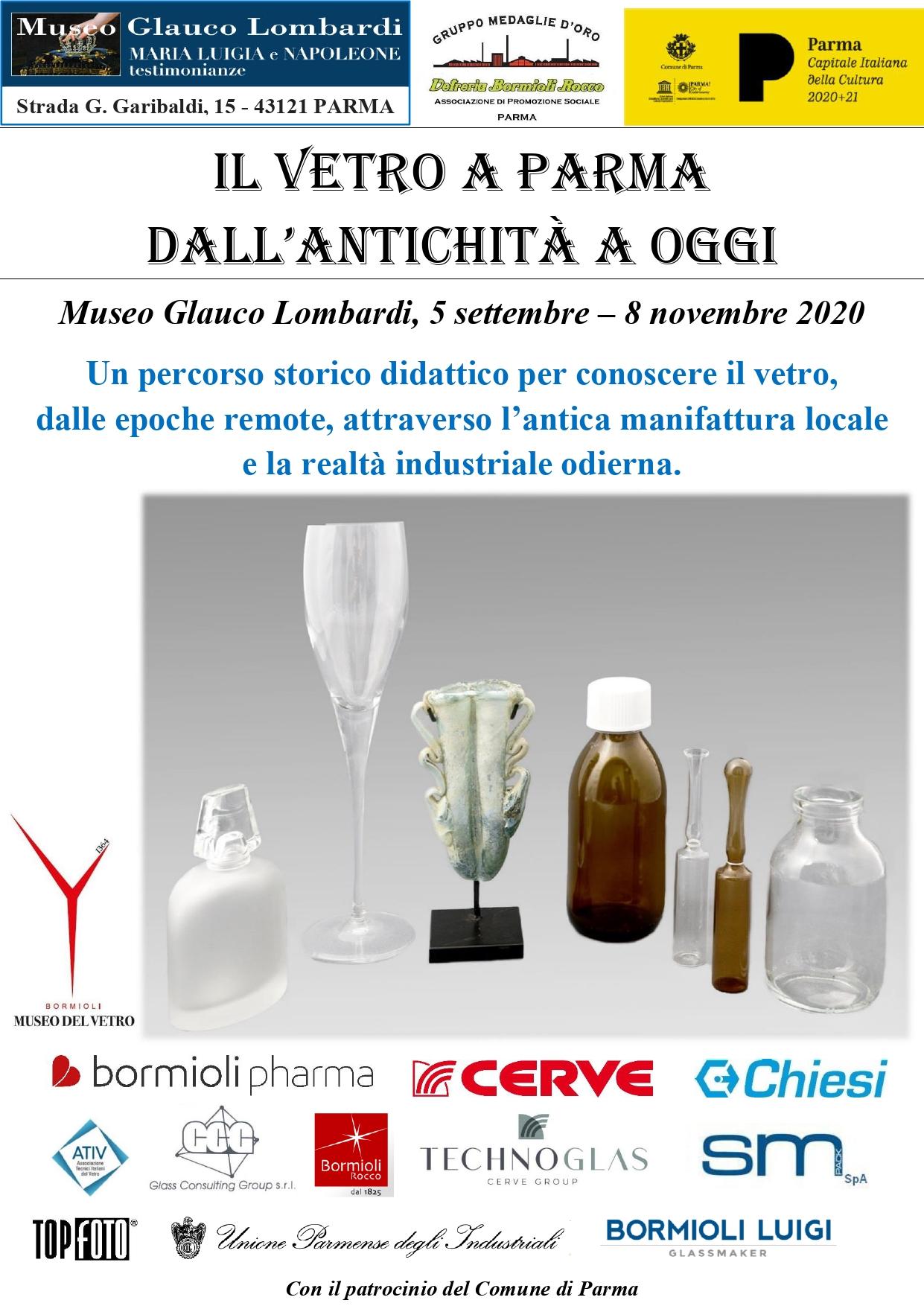 ll vetro a Parma dall'antichità a oggi
