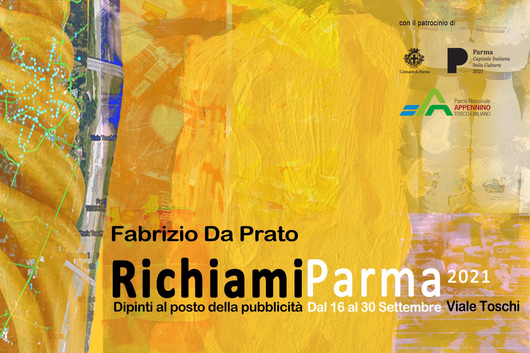 Richiami Parma 2021. Dipinti al posto della pubblicità invade Parma